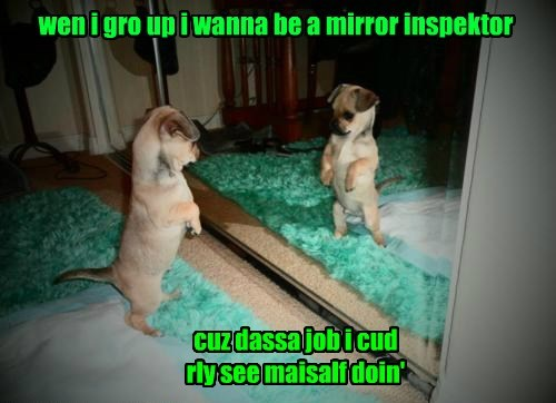 grow up mirror puppy inspector caption - 8307529216
