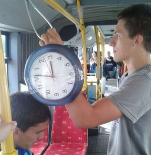 poorly dressed,watch,clock,bus,tape,g rated