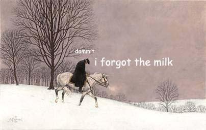 Snow - dammit i forgot the milk