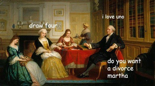 Painting - i love uno draw four do you want a divorce martha