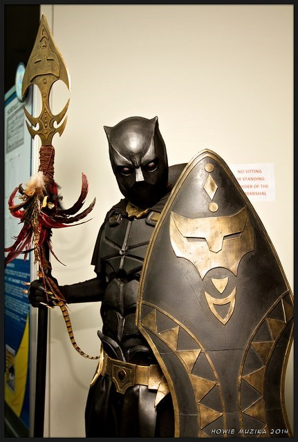 marvel cosplay black panther - 8307639808