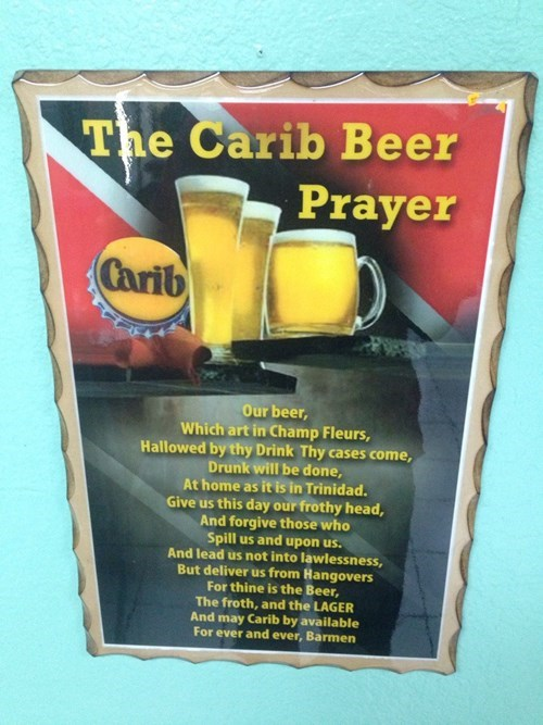 beer carib prayer funny - 8307708672