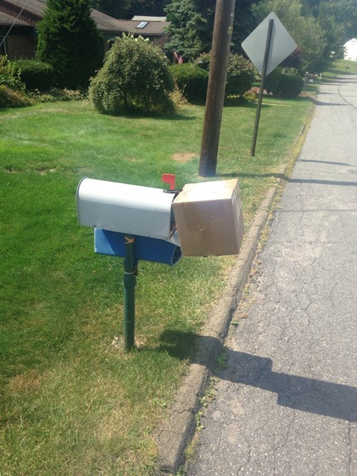 monday thru friday,mailbox,package,delivery