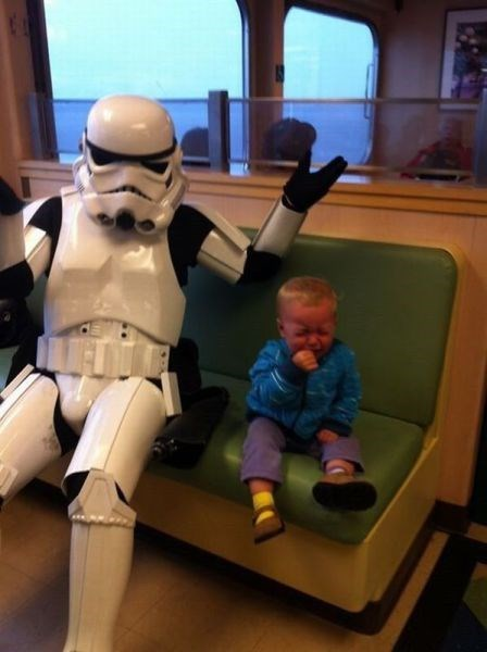 stormtrooper kids parenting ferry crying shrug g rated - 8307800064