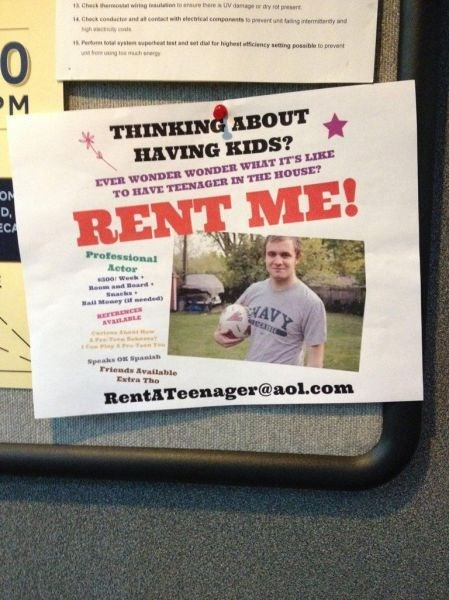 teenagers parenting rent flyer g rated - 8307807744
