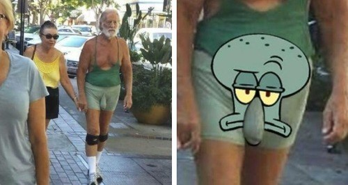 poorly dressed,cannot unsee,squidward
