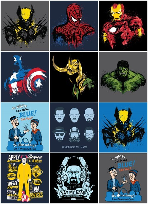 breaking bad marvel comics tshirts for sale - 8307859968