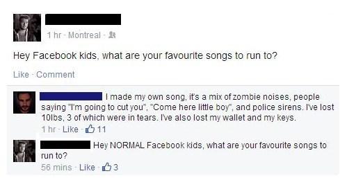 facebook,running