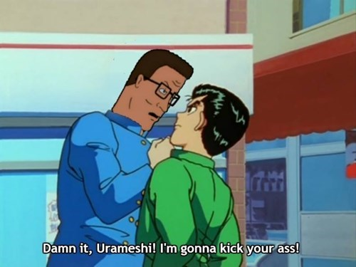 crossover anime King of the hill cartoons yuyu hakusho - 8308545024
