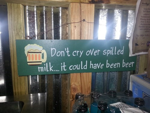 beer sign milk pub funny - 8308606464