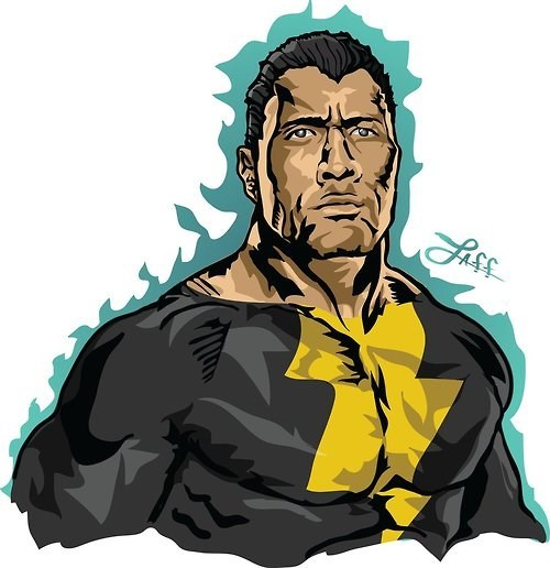 Fan Art Dwayne Johnson black adam - 8308887552