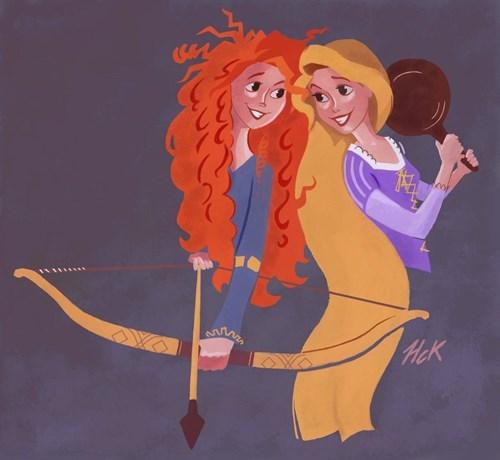 brave disney Fan Art rapunzel cartoons - 8309060608