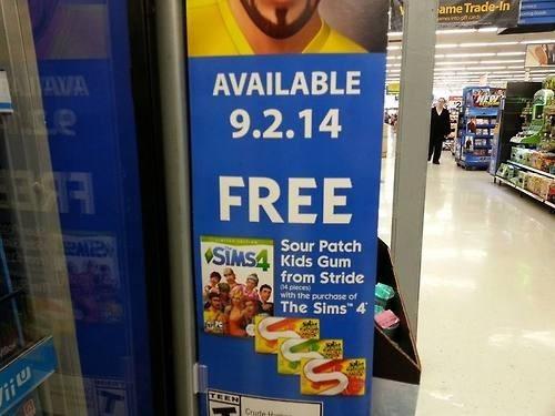 stride gum EA video games The Sims - 8309095168
