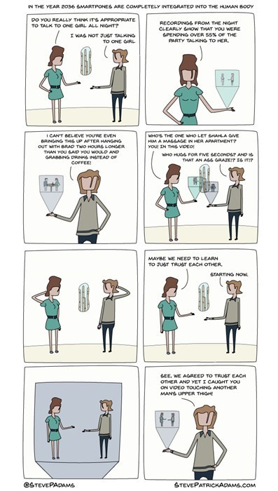 iPhones relationships cell phone future trust issues web comics - 8309100800