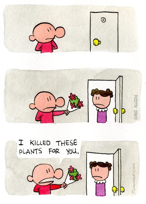 Cartoon - I KILLED THESE YOu PLANTS FOR TOONHOLE.CoM CHRIS ALLISON