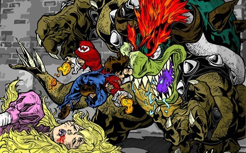 Fan Art awesome bowser mario - 8309188864