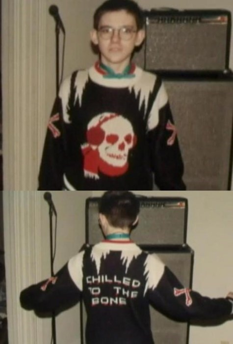 poorly dressed skull sweater g rated - 8309198080
