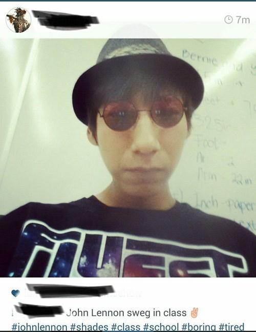 john lennon swag instagram selfie - 8309573376