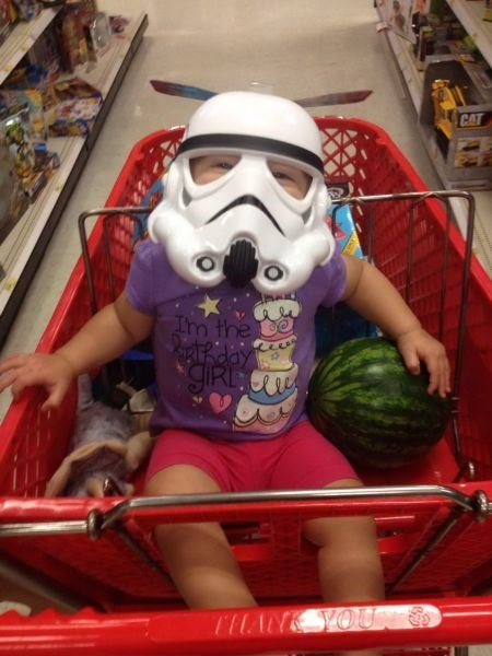 geek stormtrooper kids shopping cart mask parenting - 8310258432