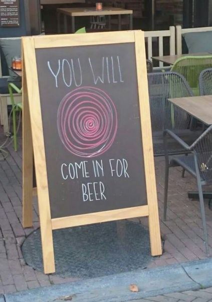 beer sign hypnotic after 12 chalkboard - 8310320896