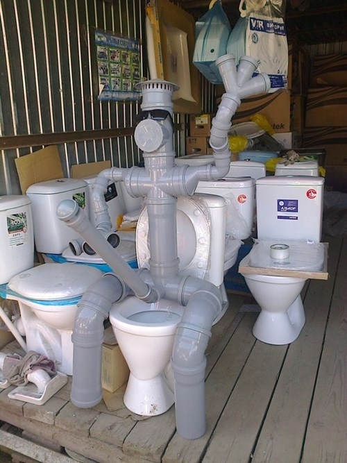 monday thru friday mascot toilet pipe g rated - 8310346752