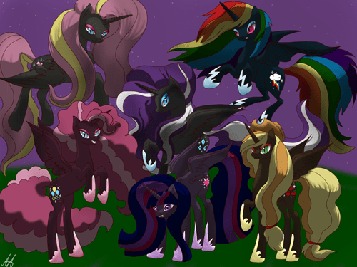 changeling Fan Art mane 6 - 8311326976