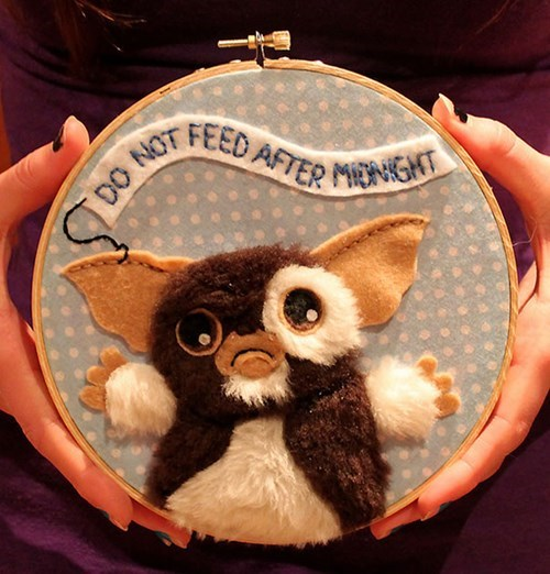 cross stitch,gizmo,mogwai