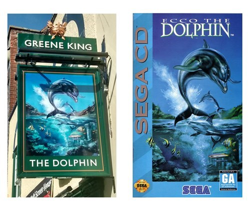 ecco the dolphin signs pubs - 8312748800