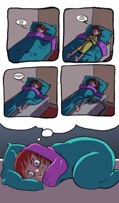 scary bed sleeping web comics - 8312848896