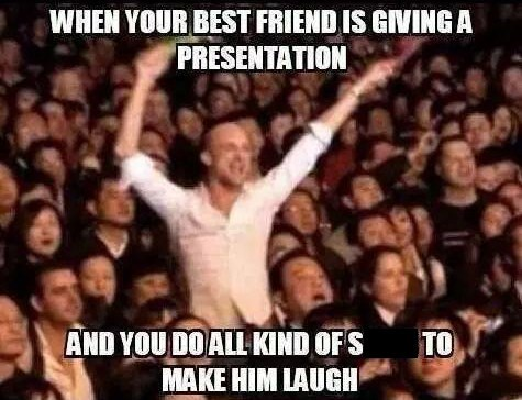 school,presentation,friends