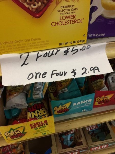 monday thru friday,sale,misspelling,spelling,grocery store