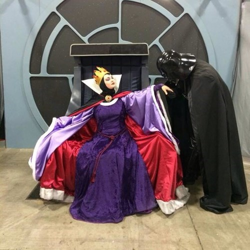 cosplay,snow white,darth vader