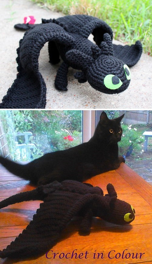 crafts crochet How to train your dragon toothless - 8313093632