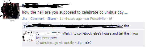 columbus day,facebook