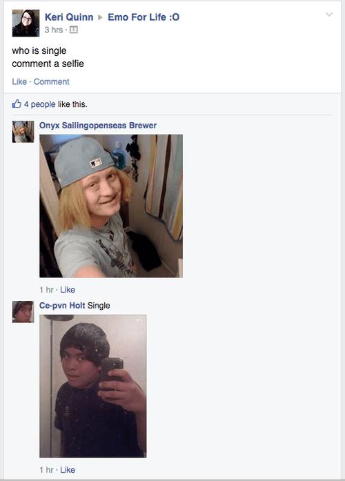emo,facebook,selfie