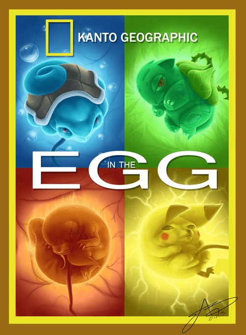 national geographic Pokémon starters Fan Art gen 1 - 8313907968