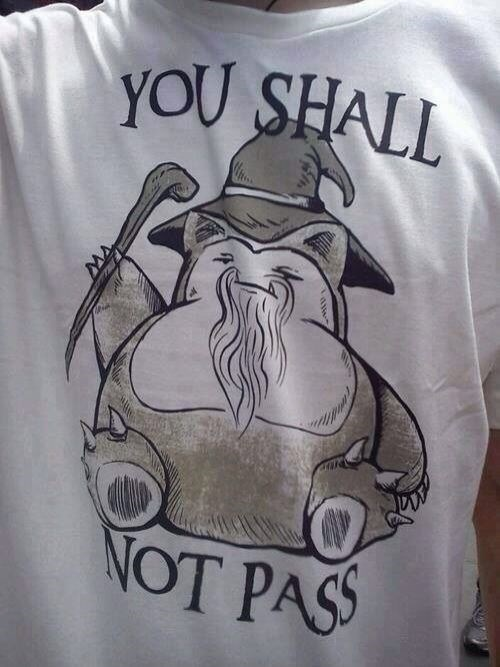 snorlax,Lord of the Rings,you shall not pass