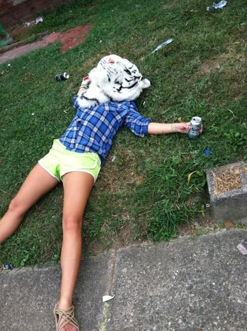 beer,after 12,drunk,mask,white tiger