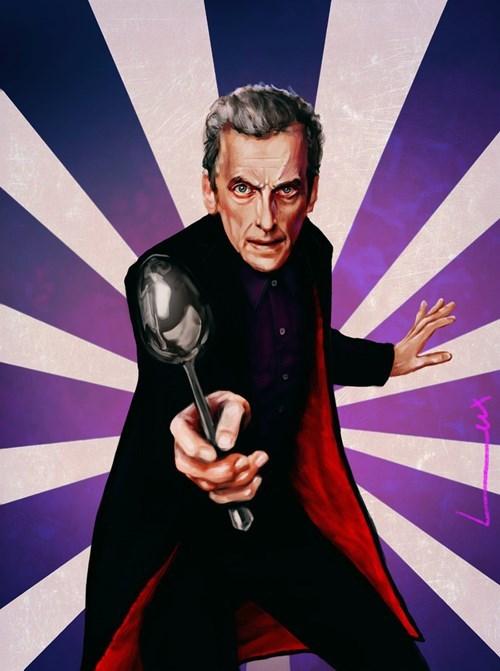 12th Doctor Fan Art spoon - 8313967872