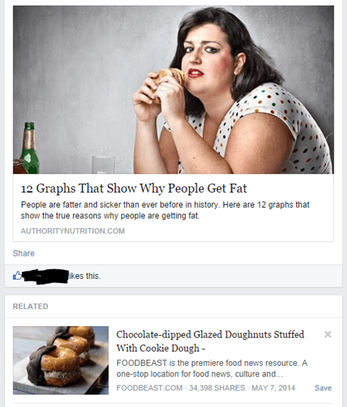 suggestion juxtaposition food obesity