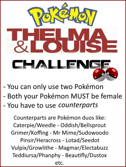 challenge thelma and louise - 8314576128