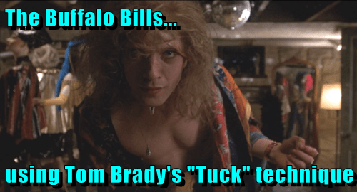 the buffalo bills using tom brady s tuck technique