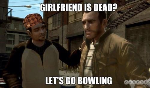 bowling,gta iv,scumbag