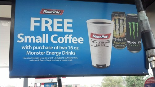 coffee,energy drinks