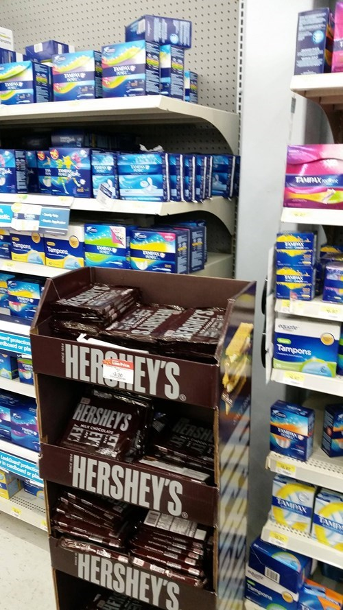chocolate,tampons