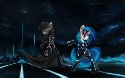 Fan Art tron octavia vinyl scratch - 8315272704