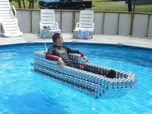 after 12 pool beer can boat - 8315762176