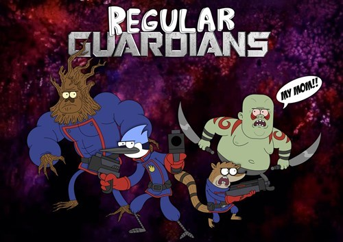 crossover cartoons Fan Art guardians of the galaxy regular show - 8315834112