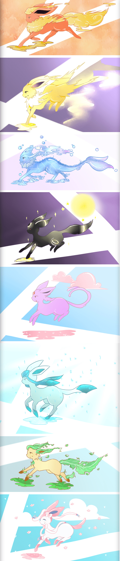 eeveelutions,Fan Art