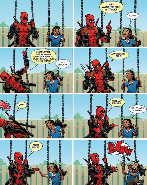 deadpool Straight off the Page tricks - 8315838464